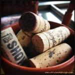 Use old wine corks for an extra layer of texture.