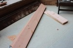 I used new construction lumber for the project, because I want to recreate the look of distressed barn wood.