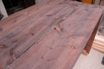 Here is the wood ten seconds after I applied the vinegar solution. I was AMAZED at how fast it aged the wood.,
