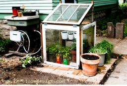 Re-purposed Window Greenhouse