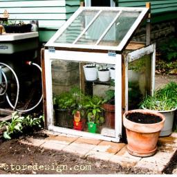 Re-purposed Window Greenhouse