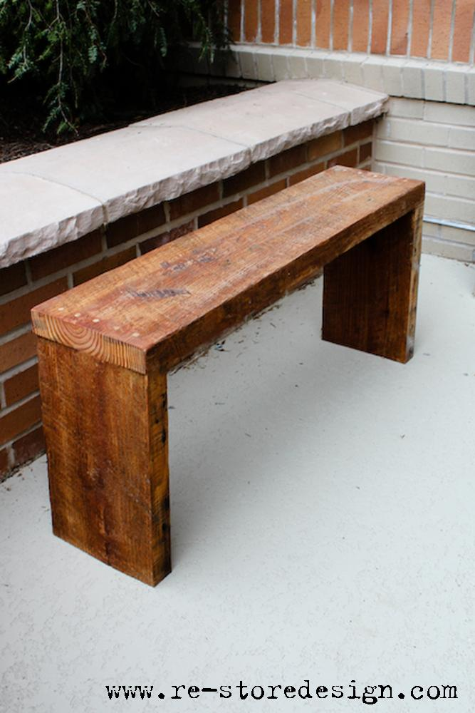 Reclaimed Wood Bench Jodi Kurtz