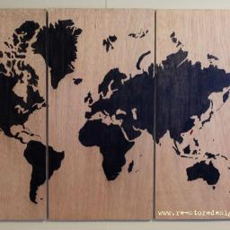 World Map Art – Valentine's Gift