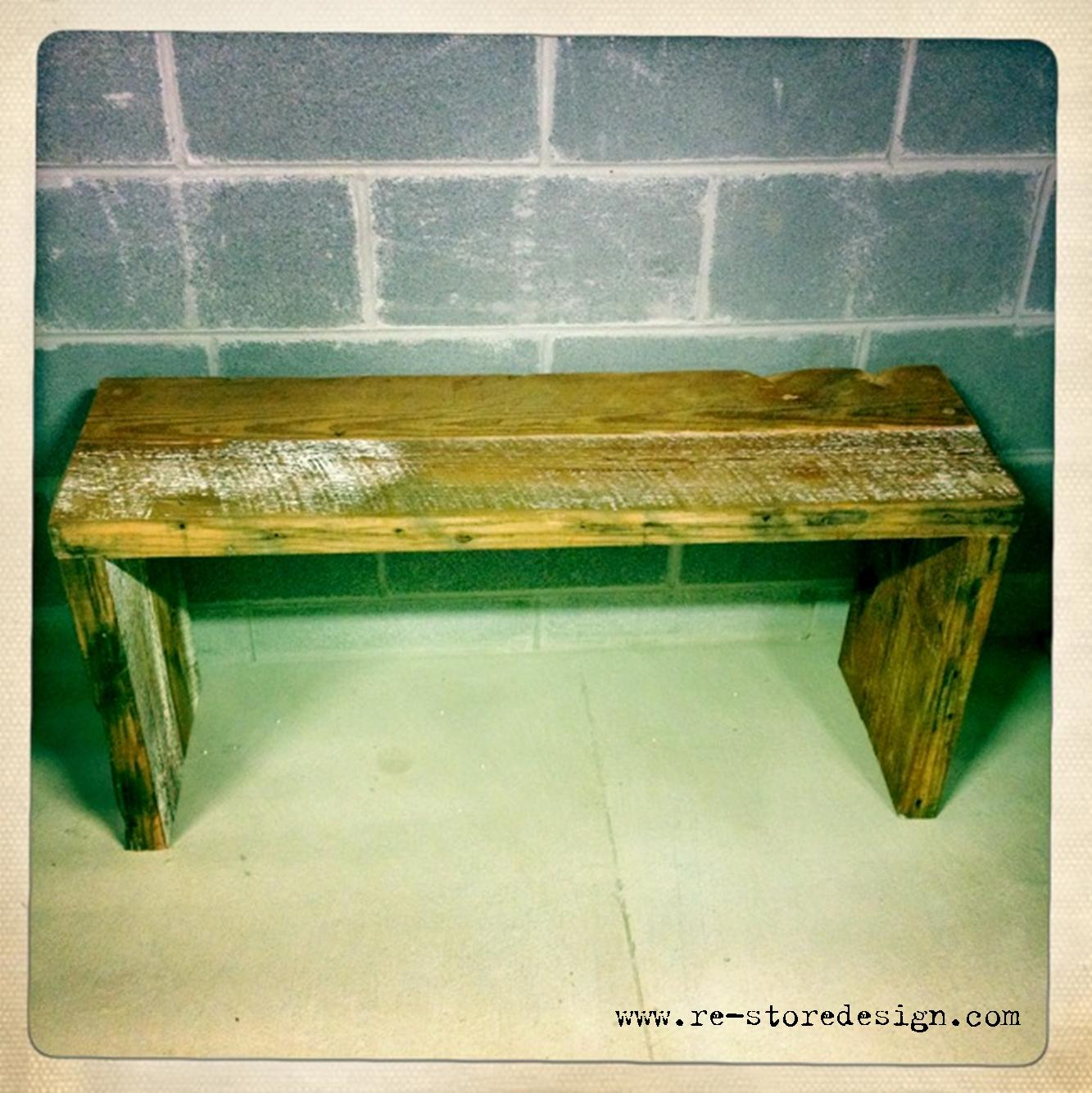 12 Reclaimed Wood Bench