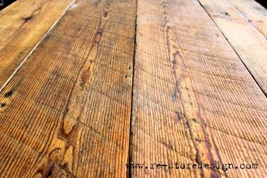 The old rough sawn wood is loaded with character.