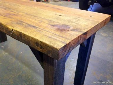 Condo Size Reclaimed Wood Farm Table 3