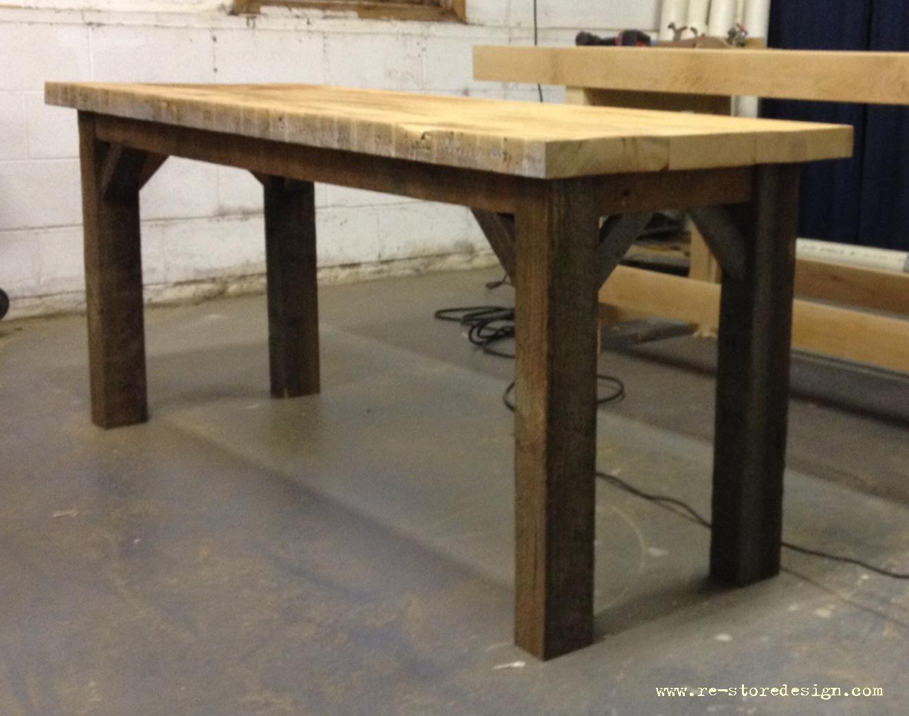 Condo Size Reclaimed Wood Farm Table 4. Reclaimed Wood Table Desk