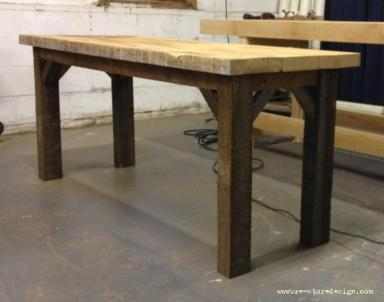 Condo Size Reclaimed Wood Farm Table 4
