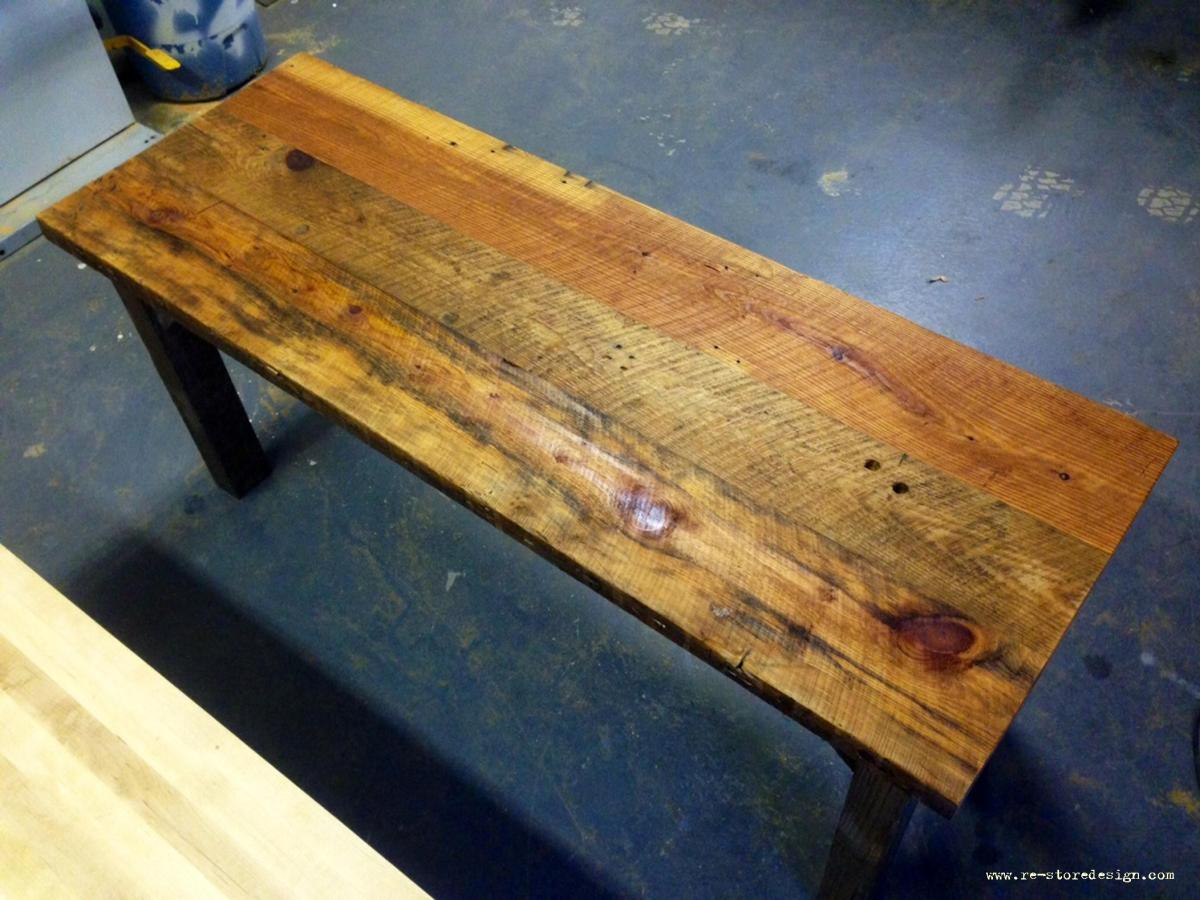 Condo Size Reclaimed Wood Farm Table
