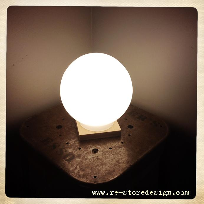 DIY Sphere Table Lamp Final