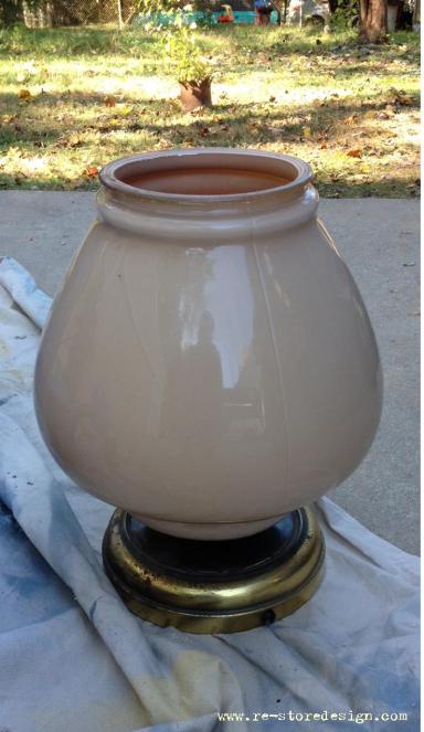Lamp Havk Vase Assembled