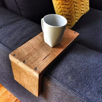 IKEA Kivik couch reclaimed wood arm wrap