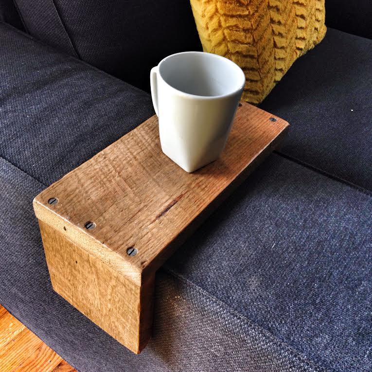 IKEA Kivik couch reclaimed wood arm wrap