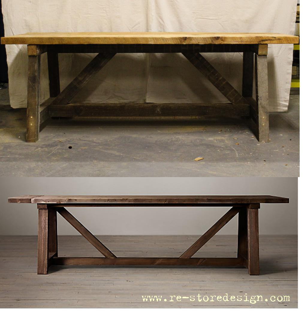 Restoration Hardware Beam Table Hack Final