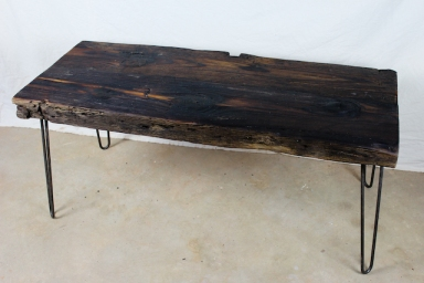 Back view for Reclaimed beam coffee table