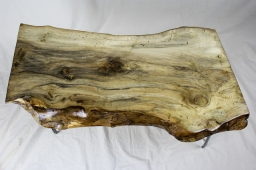 Live Edge Holly Coffee Table with Hairpin Legs