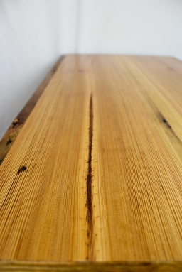 Reclaimed Heart Pine Coffee Table With Hairpin Legs