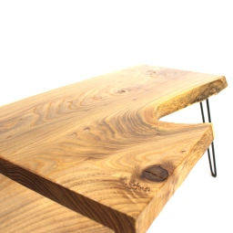 The Live Edge American Red Elm Coffee Table