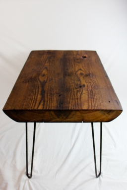 Reclaimed Beam Coffee Table with Hairpin Legs - 3