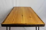 Reclaimed Heart Pine Coffee Table with Hairpin Legs - 5