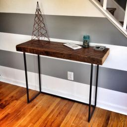 Reclaimed Heart Pine Console Table