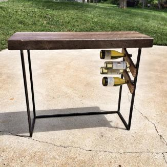 Mini Reclaimed Wood Wine Bar