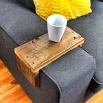 Reclaimed Heart Pine Couch Armwrap 3