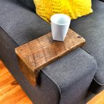 Reclaimed Heart Pine Couch Armwrap 4