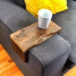 Reclaimed Heart Pine Couch Armwrap 5